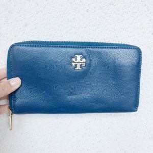 Tory Burch - Teal Blue Continental Wallet